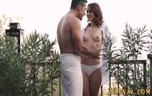 Butt rimmed brunette babe gets anally banged