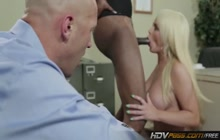 Alexis Ford facialized by black dude in front of her husband