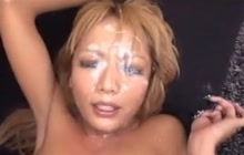 Japanese Girl Bukkake Session