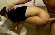 Indian woman fucked in bathroom