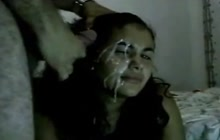 Shooting sperm on Indian face