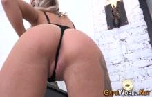 European slut gets butt fucked