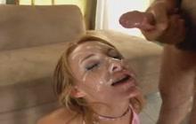Huge facial cum shot for Sierra Sin